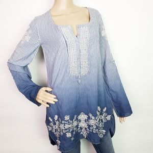 Johnny Was 3J Workshop Ombre Tunic